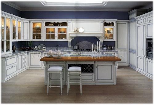 дизайн кухни в классическом стиле фото