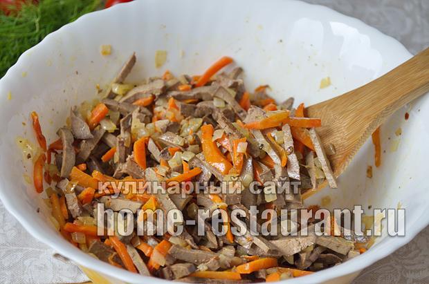 Салат Обжорка классический рецепт с фото _10