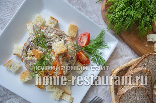Салат Обжорка классический рецепт с фото _14