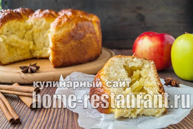 Дрожжевой пирог с яблоками: рецепт с фото