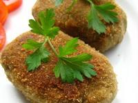 Котлеты  из баклажанов с болгарским перцем