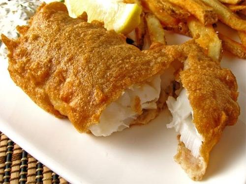 рыба в белковом кляре