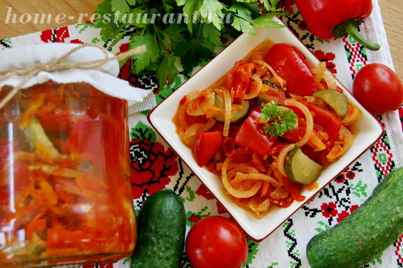Овощной салат с помидорами фото 11