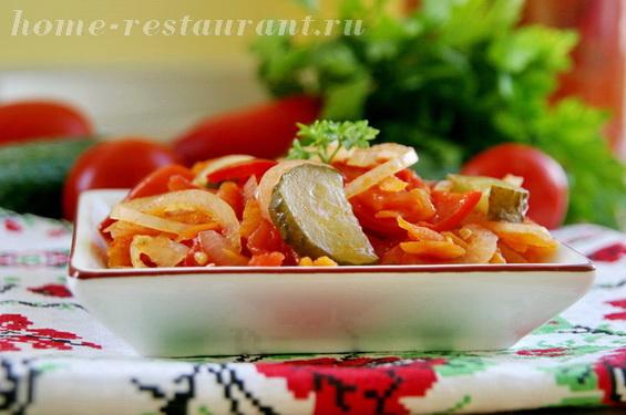 Овощной салат с помидорами фото 9