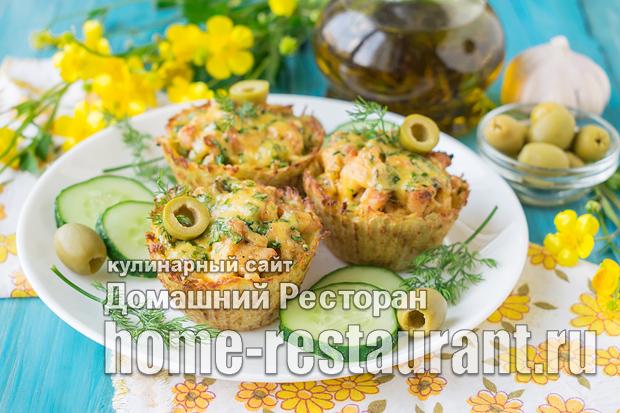 Картофельные тарталетки с курицей под сыром фото_07