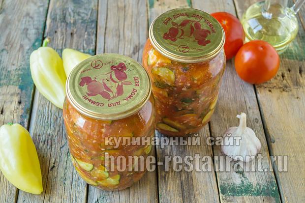 салат из огурцов на зиму в томатной заливке_7