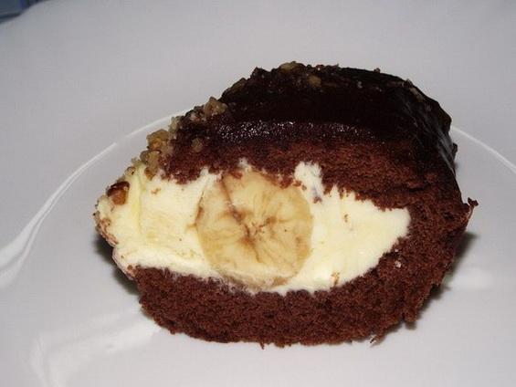 Шоколадный торт с бананом «Слоновая слеза»