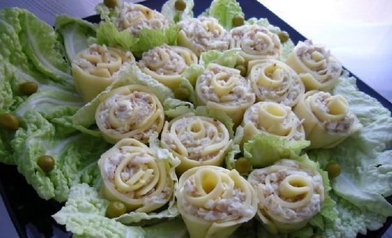 Сырная закуска «Розы для милых дам»