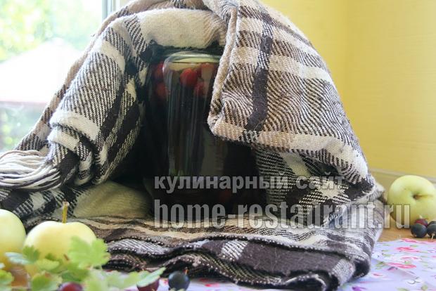 компот из крыжовника с яблоками фото 5
