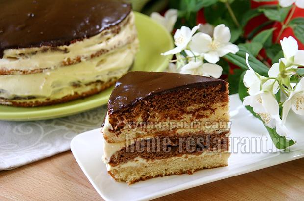 Торт сметанник со сгущенкой фото, фото рецепт Торта сметанник со сгущенкой