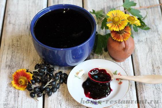 джем из черной смородины рецепт