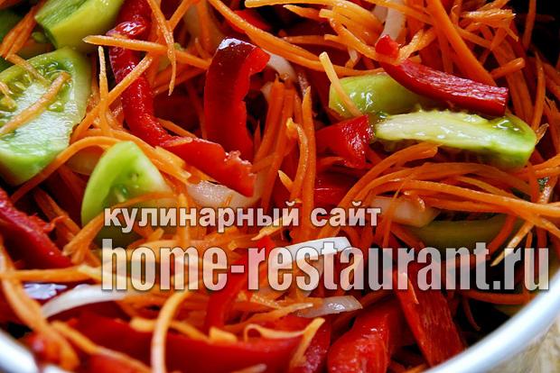 Салат из зеленых помидор на зиму «Цветик семицветик»_4