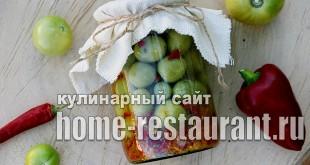 Маринованные зеленые помидоры с аджикой фото_01