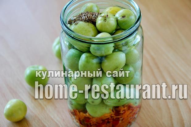 Маринованные зеленые помидоры с аджикой фото_07