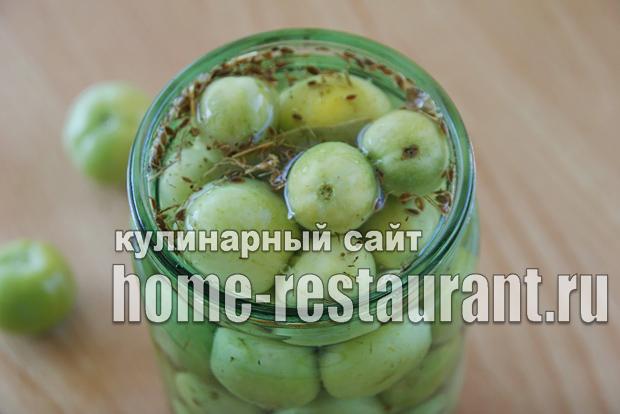 Маринованные зеленые помидоры с аджикой фото_08