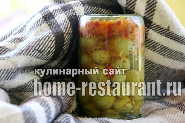 Маринованные зеленые помидоры с аджикой фото_10