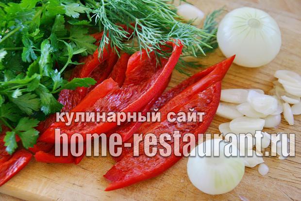 Зеленые помидоры фаршированные на зиму зеленью и чесноком фото_07