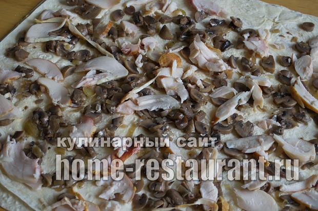 Лаваш с начинкой с грибами и сыром_07