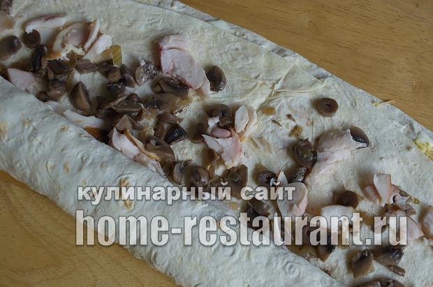 Лаваш с начинкой с грибами и сыром_08