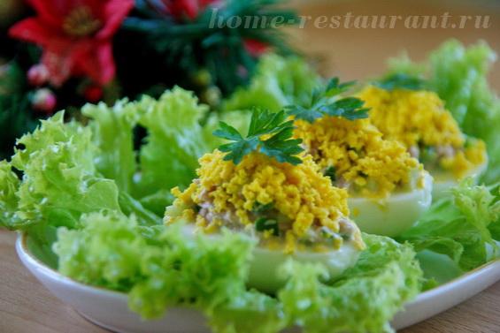 яйца фарш тунцом фото 11
