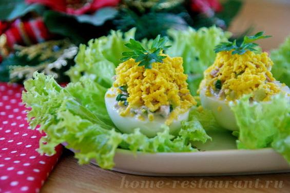 яйца фарш тунцом фото 14