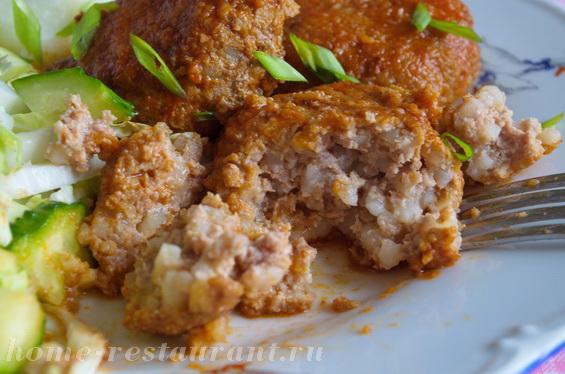 Тефтели с рисом с подливкой фото, фото рецепт Тефтелей с рисом с подливкой