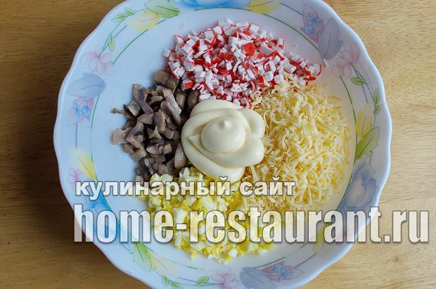 Начинка для тарталеток с крабовыми палочками и грибами_02