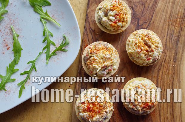 Начинка для тарталеток с крабовыми палочками и грибами_06