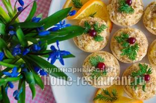 Салат в тарталетках с курицей и апельсином_8