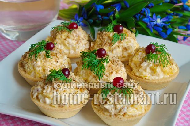 Салат в тарталетках с курицей и апельсином_9