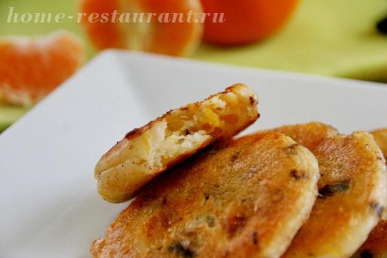 оладьи с мандарином и шоколадом фото 11