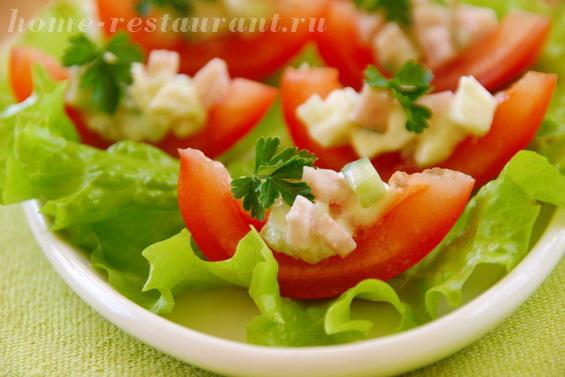 помидоры с моцареллой и ветчиной фото 13