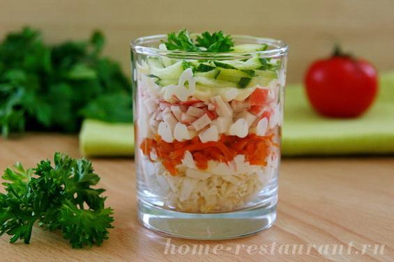 Салат из помидоров на праздник - рецепт пошаговый с фото