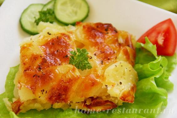 Картофельный гратен с луком в духовке фото 14