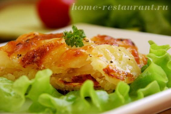 Картофельный гратен с луком в духовке фото 15