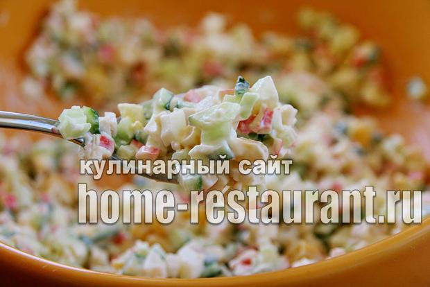 Салат в тарталетках с крабовыми палочками и креветками_09