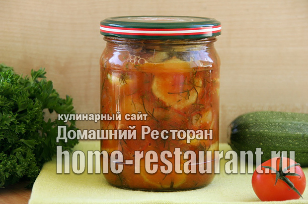 Жаренные кабачки на зиму в томатном соусе фото_04