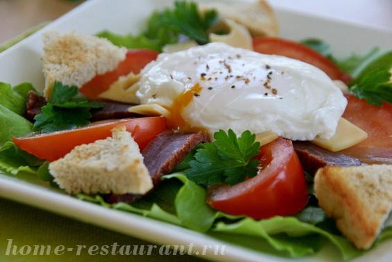 салат с яйцом пашот фото 14