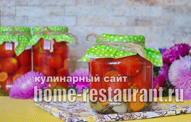 Маринованные помидоры на зиму - 20 рецептов с фото