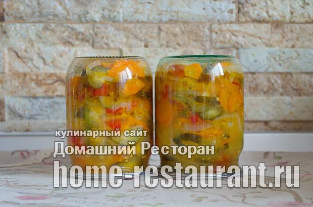 «Московский» салат  на зиму из овощей фото_09