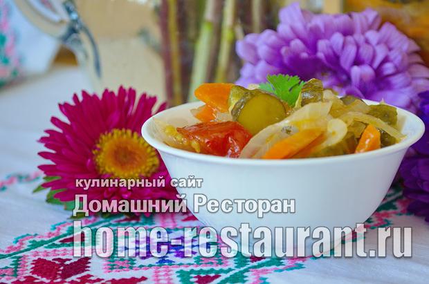 «Московский» салат  на зиму из овощей фото_14