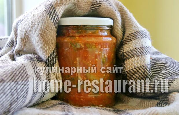 Салат из огурцов на зиму по-грузински