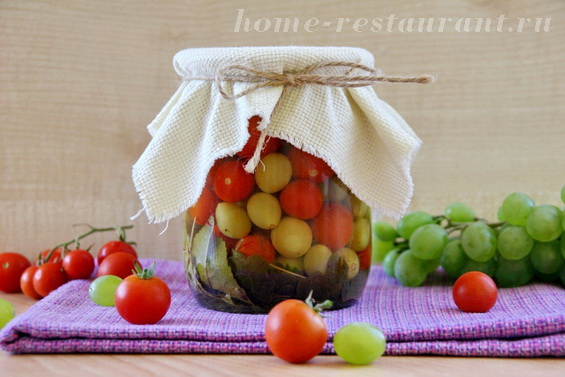 Черри с виноградом фото 13