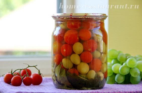 Черри с виноградом фото 8