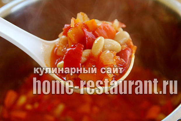 Вкусный салат с фасолью на зиму из помидоров_6