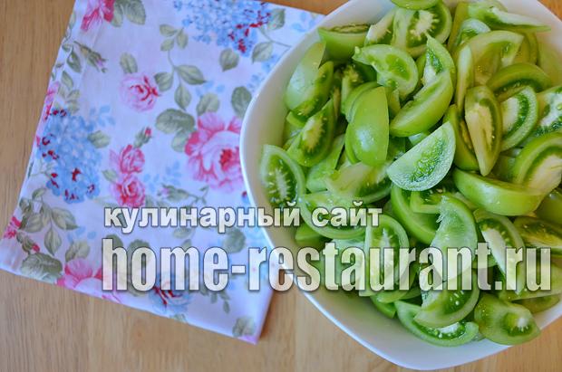 Салат из зеленых помидор на зиму_1