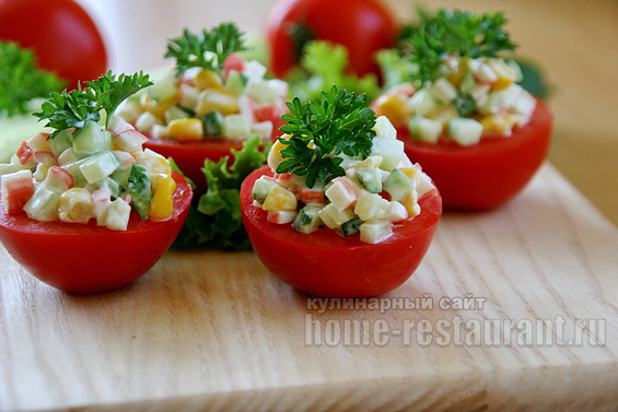 помидоры с крабовыми палочками фото 14
