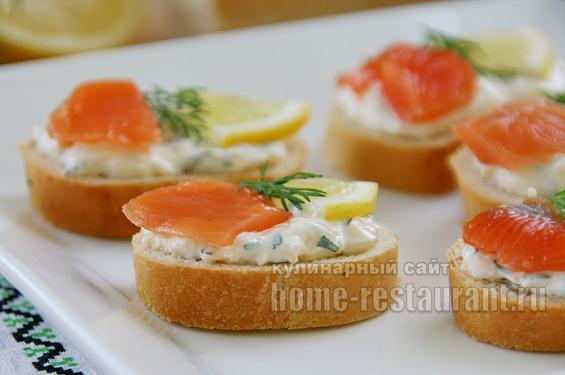 Бутерброды с красной рыбой фото 10