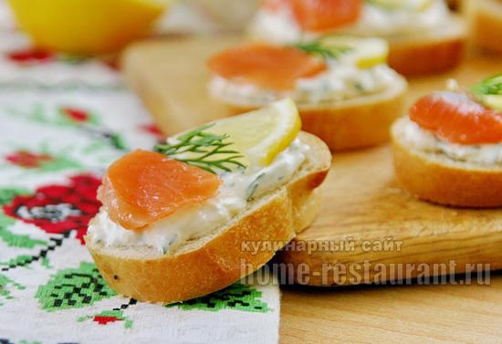 Бутерброды с красной рыбой фото 11