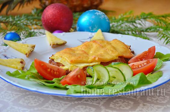 отбивные из свинины с ананасом в духовке рецепт с фото